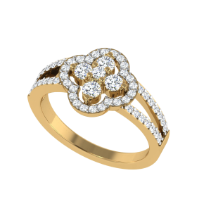 The Clover Diamond Cluster Ring