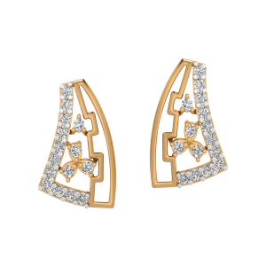 The Floral Rain Diamond Stud Earrings
