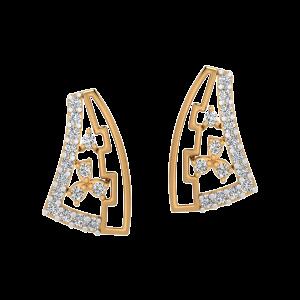The Floral Rain Diamond Stud Earrings
