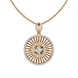 Pop Wheel Diamond Pendant