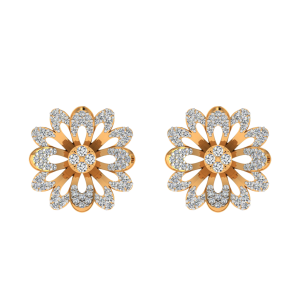 The Floral Bloom Diamond Stud Earrings