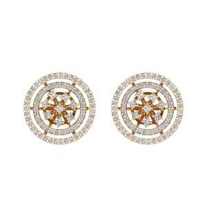 The Glitterati Loops Diamond Stud Earrings