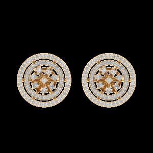 The Glitterati Loops Diamond Stud Earrings