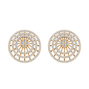 The Orbital Jingle Diamond Stud Earrings