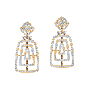 The Fashion Spectacle Diamond Dangle Earrings