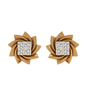 The Petal Poses Diamond Stud Earrings