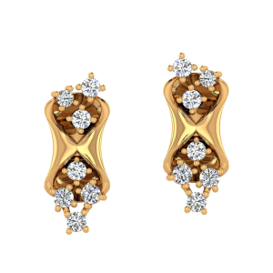 The Milky way Diamond Stud Earrings
