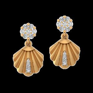 The Exotic Shell Diamond Stud Earrings