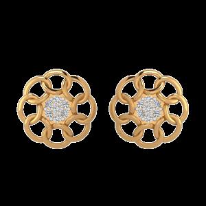Rings of Romance Diamond Stud Earrings