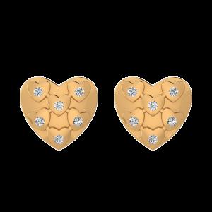 Mix Of Love Diamond Stud Earrings