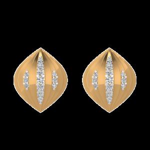 Tantalizing Dome Diamond Stud Earrings