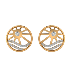 The Wheel of Love Diamond Stud Earrings