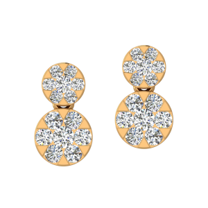 The Twing Bloom Diamond Stud Earrings