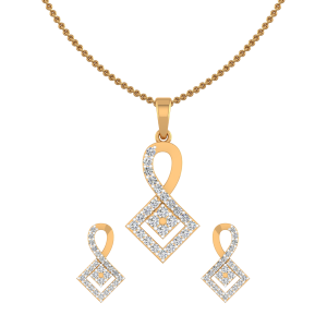 Perfect Pods Diamond Pendant Set