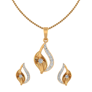 Nature Sneak Peek Diamond Pendant Set