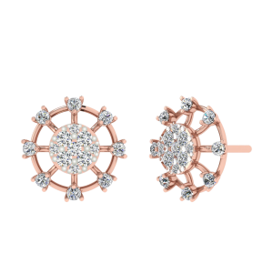 Steering Love Diamond Stud Earrings