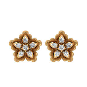 Keep It Floral Diamond Stud Earrings