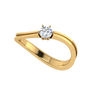 The Curvo Curvaceous Solitaire Ring