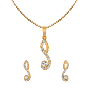 Twisted Tales Diamond Pendant Set