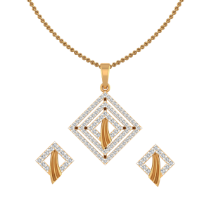 Daytime Soiree Diamond Pendant Set