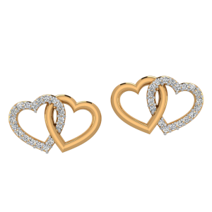 Heartly Loops Diamond Stud Earrings