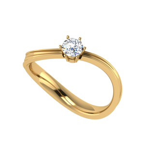 The Stardom Wavy Solitaire Ring