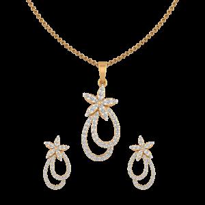 Floral Fleurs Diamond Pendant Set