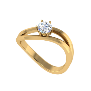 Love Essence Wavy Solitaire Ring
