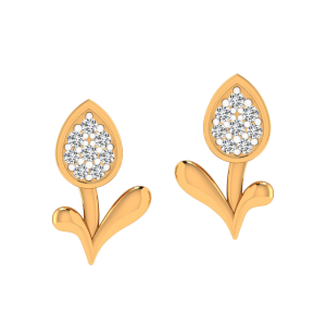 The Lovely Bud Diamond Stud Earrings