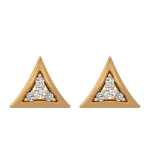 The Tender Triangle Diamond Stud Earrings