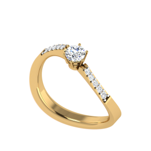 Crafty Folds Solitaire Ring