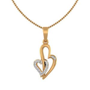 True Love Diamond Heart Pendant