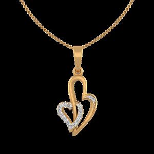 True Love Diamond Heart Pendant