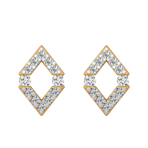 The Geometrical Glory Diamond Stud Earrings