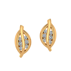 The Leafy Luck Diamond Stud Earrings