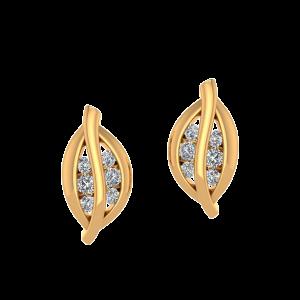 The Leafy Luck Diamond Stud Earrings