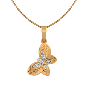 Butterfly Glow Diamond Fancy Pendant