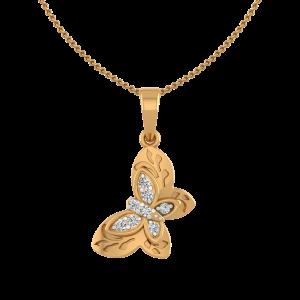 Butterfly Glow Diamond Fancy Pendant