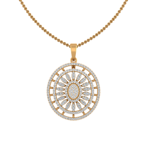 The Oval Wisdom Diamond Pendant