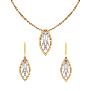 Twinkle Drops Diamond Pendant Set
