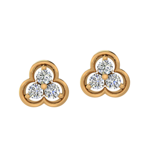 The Sparkling Trio Diamond Stud Earrings