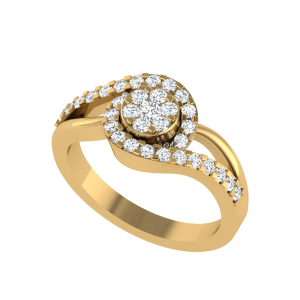 Shimmer In Sync Diamond Ring