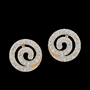 Swirl Bonanza Diamond Stud Earrings