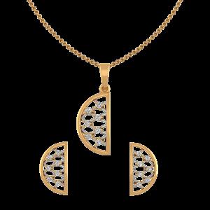 The Half Moon Diamond Pendant Set
