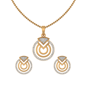 My Pie Diamond Pendant Set