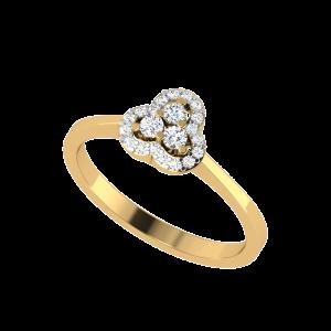 Brilliant Trilogy Halo Diamond Ring