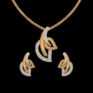 Spring Glory Diamond Pendant Set