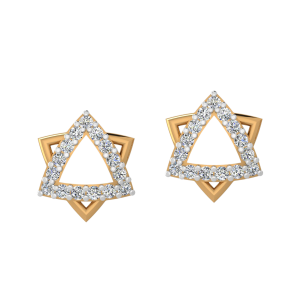 The Starry Trance Diamond Stud Earrings