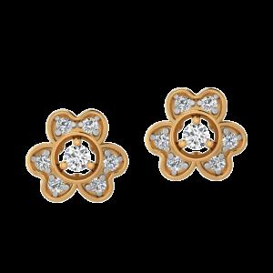 Fun N Floral Diamond Stud Earrings