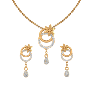 Floral Forever Diamond Pendant Set